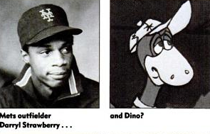 Darryl Strawberry and Dino--Separated at birth