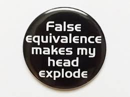 False equivalence
